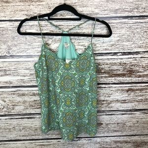 J.Crew Soft mint Paisley scalloped Cami Top 2